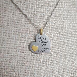 NEW lia Sophia love necklace